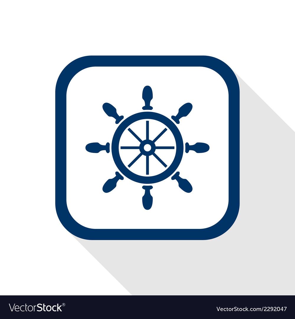 Rudder flat icon vector image