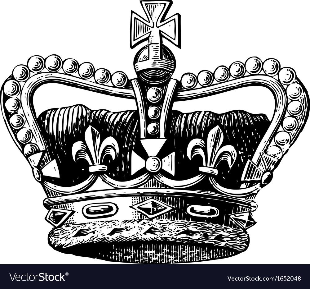 Crown Engraving vector image