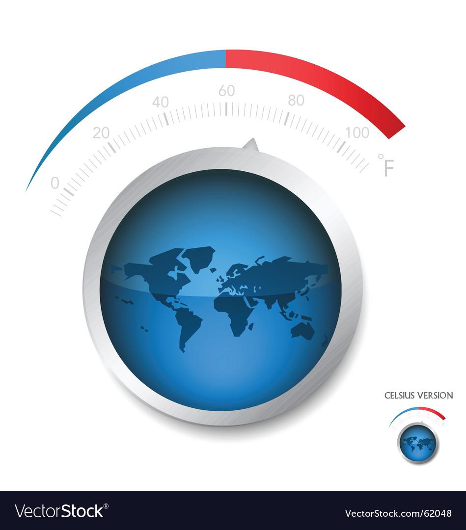Earth temperature vector image