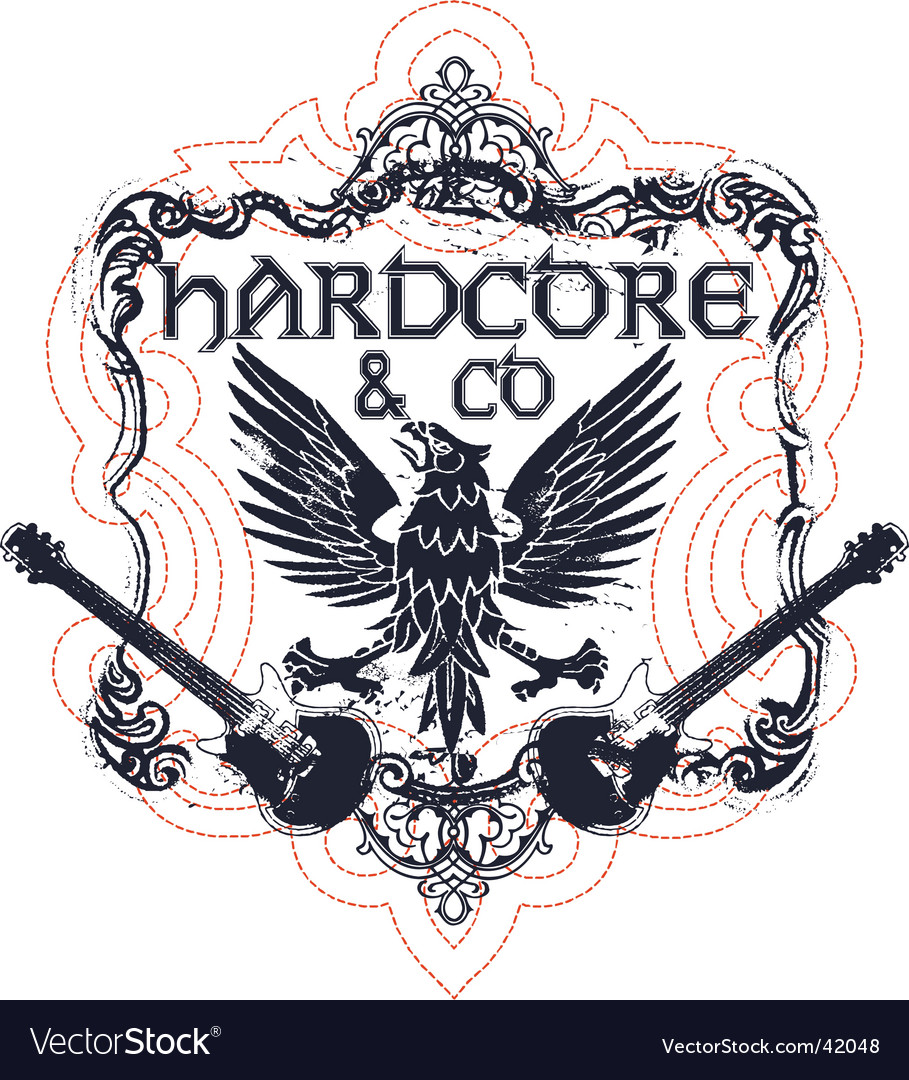 Hardcore music vector image