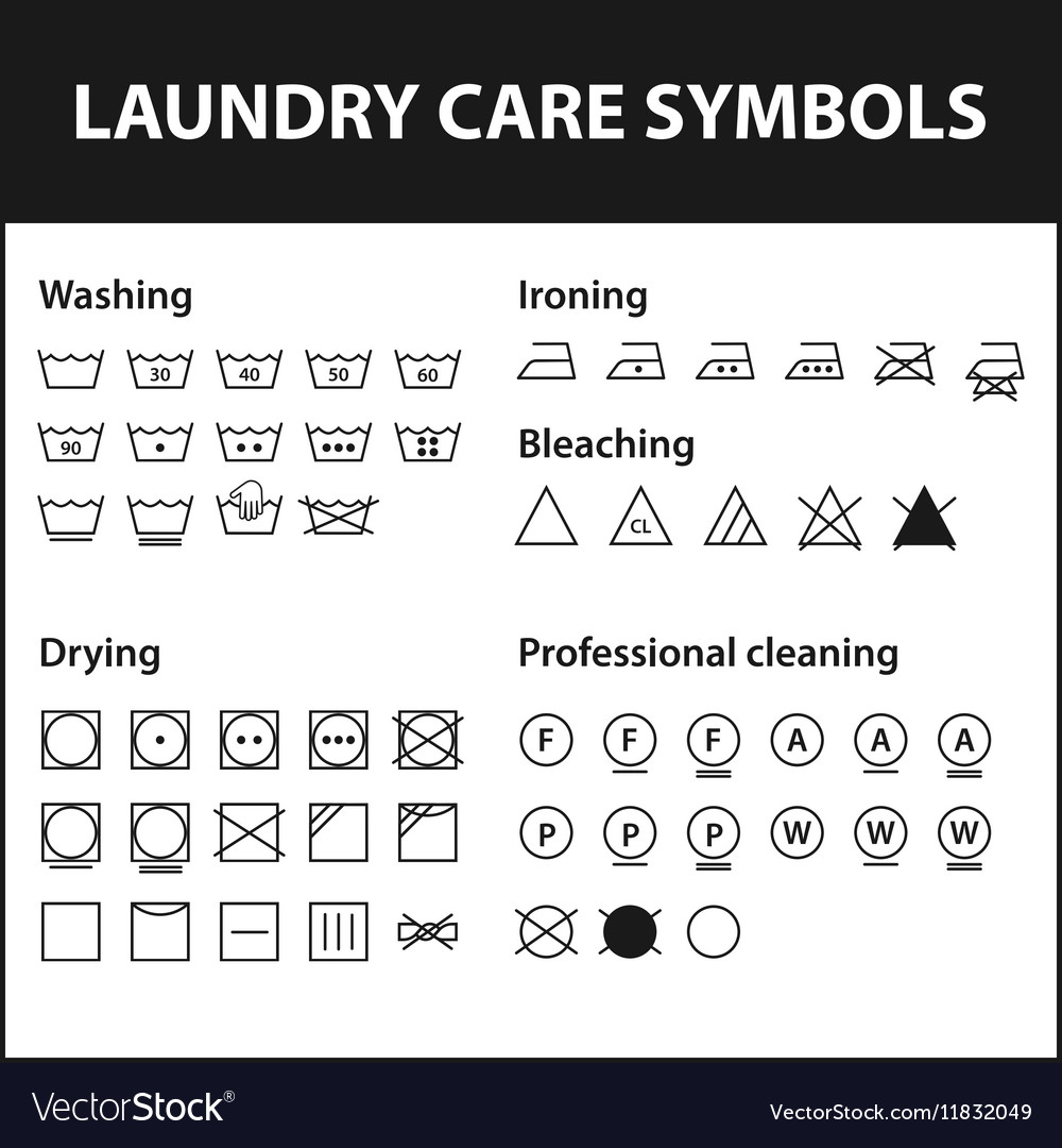Washing machine care symbols image collections symbol and sign ideas icon set of laundry symbols washing instruction vector image icon set of laundry symbols washing instruction buycottarizona