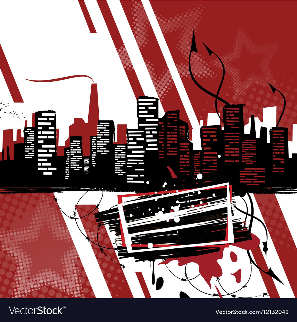 Industrial poster Grange style banner vector image