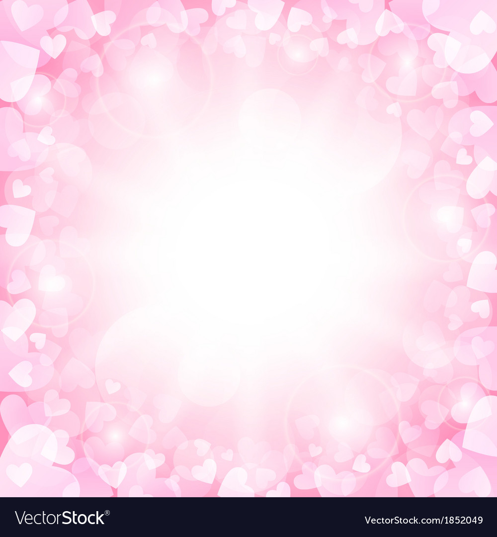 Pink Valentines background vector image