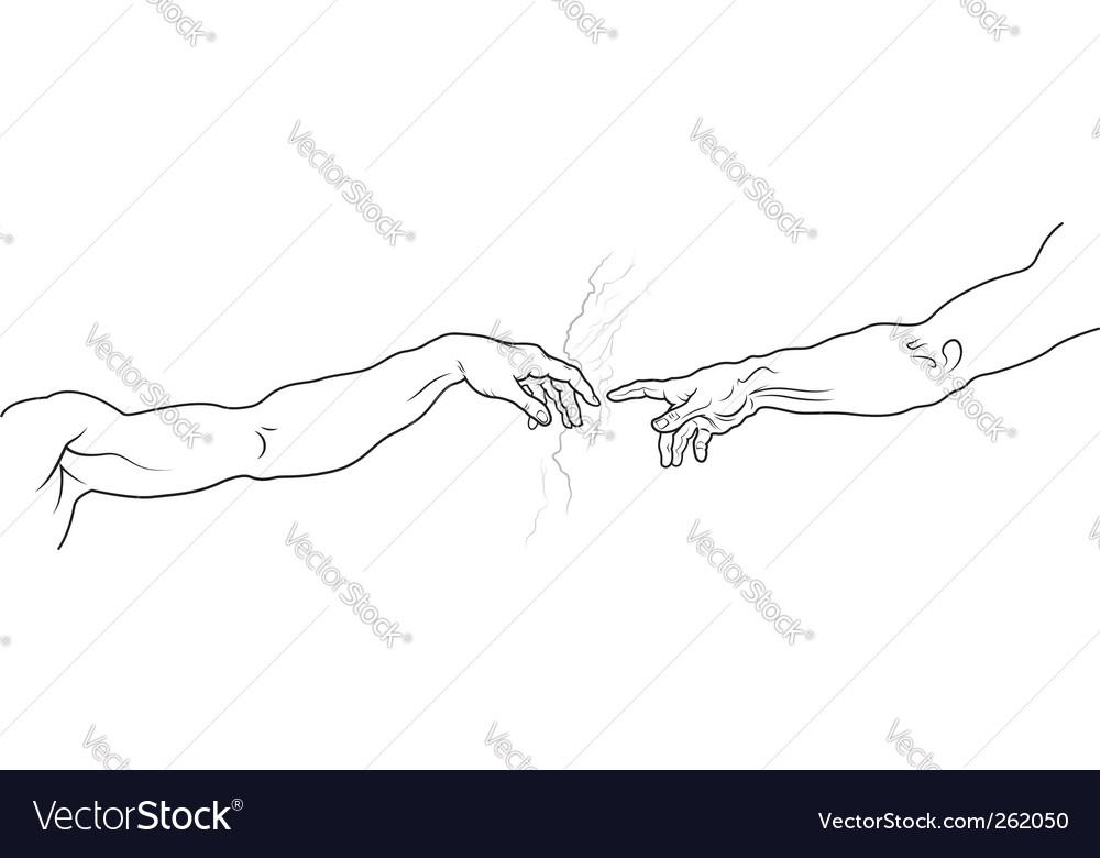 Creation of Adam vector image