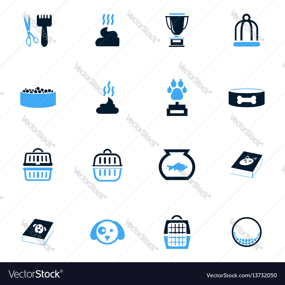 Goods for pets icons set vector image