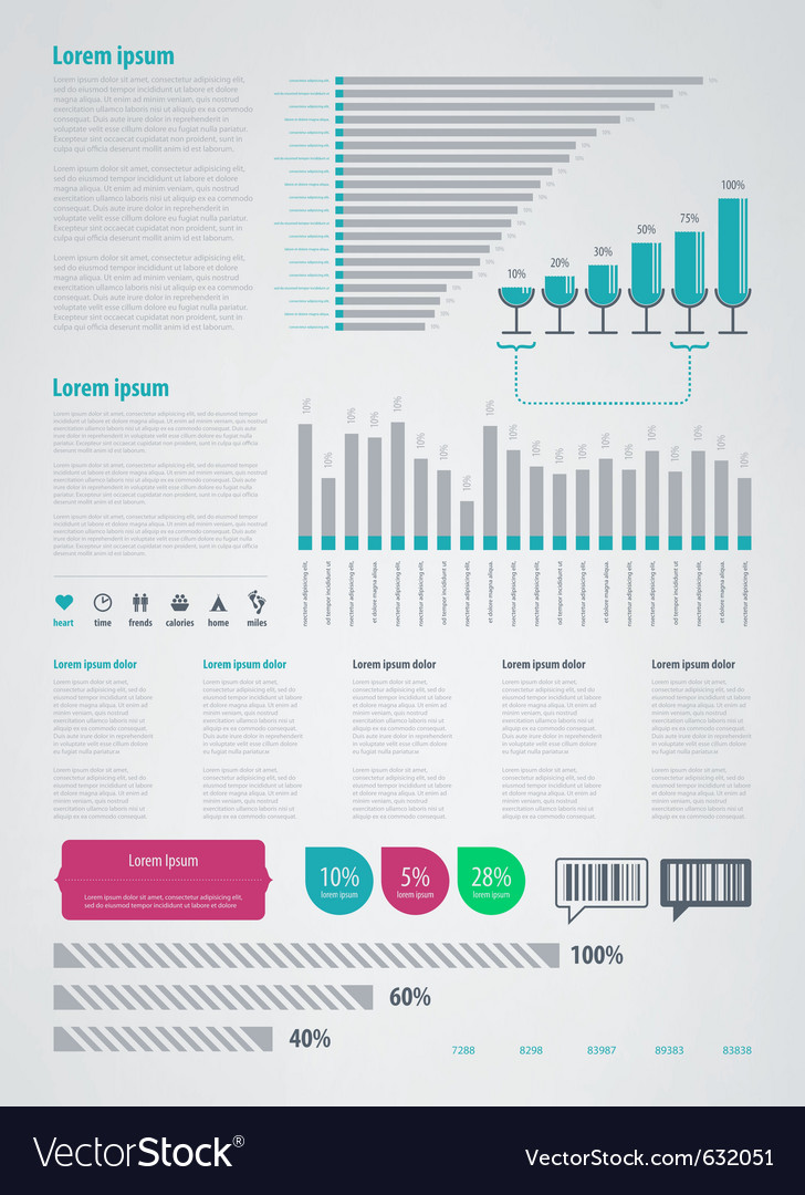 Infographics element icons and symbols Vector Image