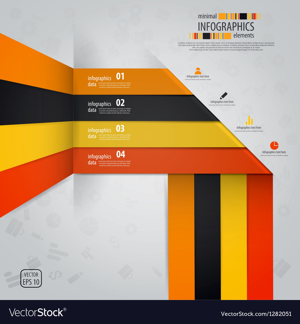Line infographics vector image