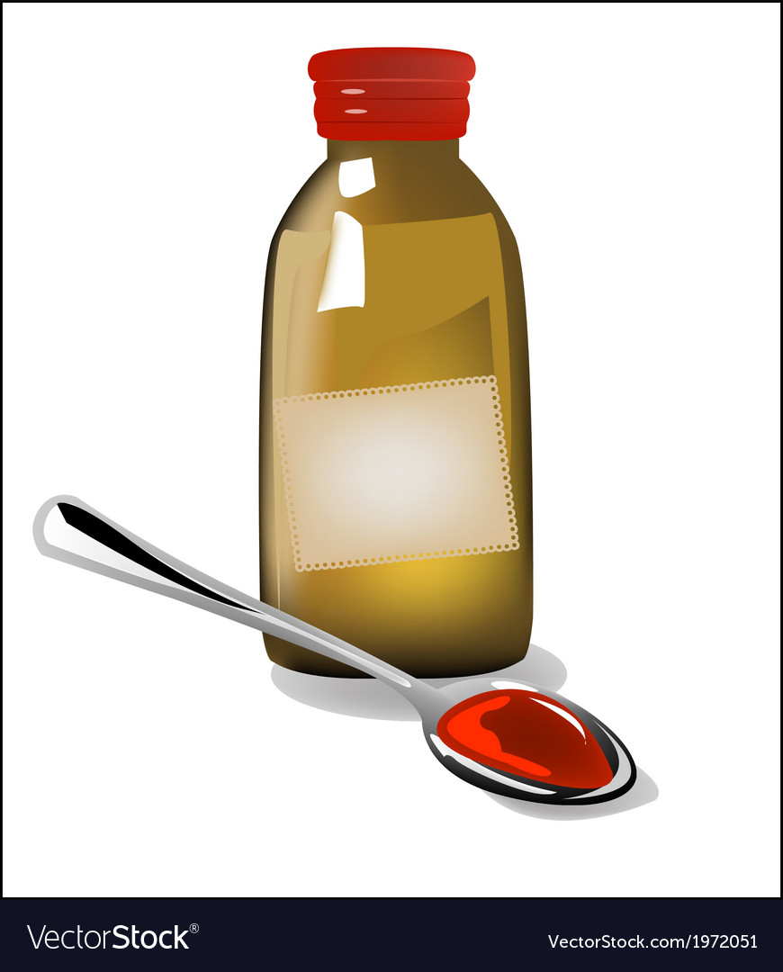 Medicinal syrup vector image