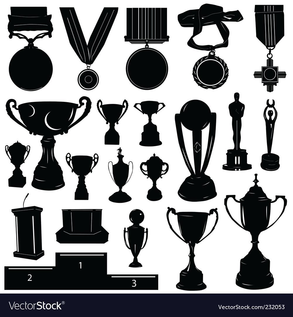 Sports reward vector image