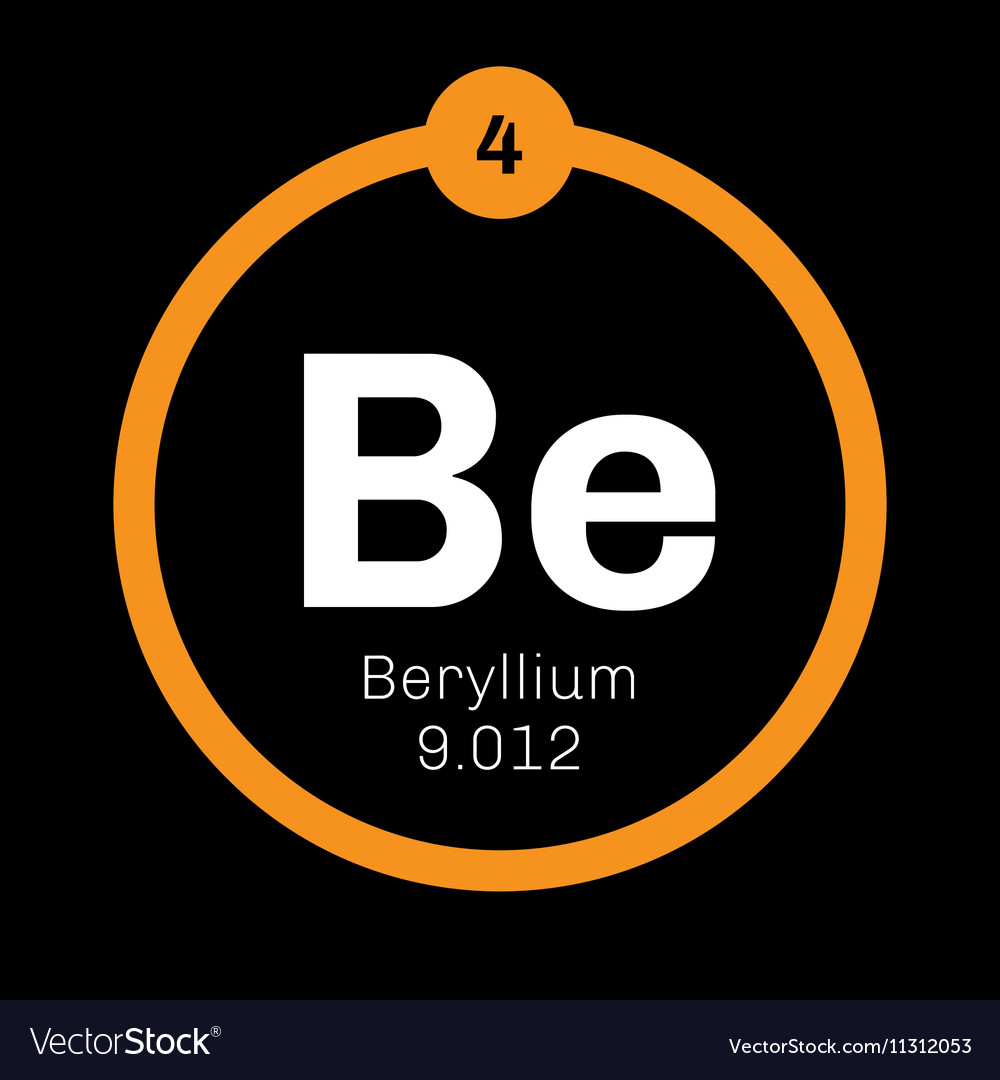 Beryllium chemical element royalty free vector image beryllium chemical element vector image buycottarizona Image collections