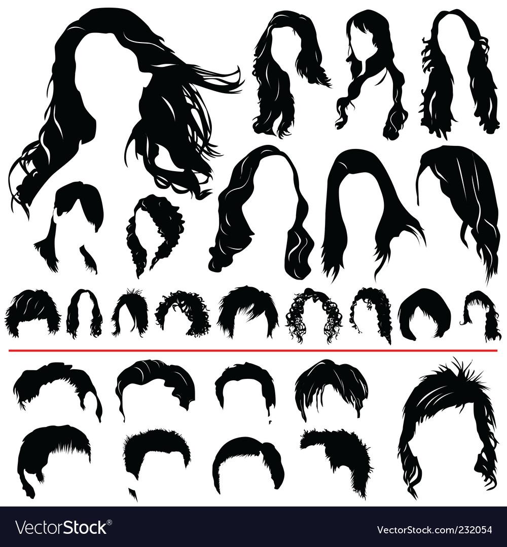 Hair set vector image