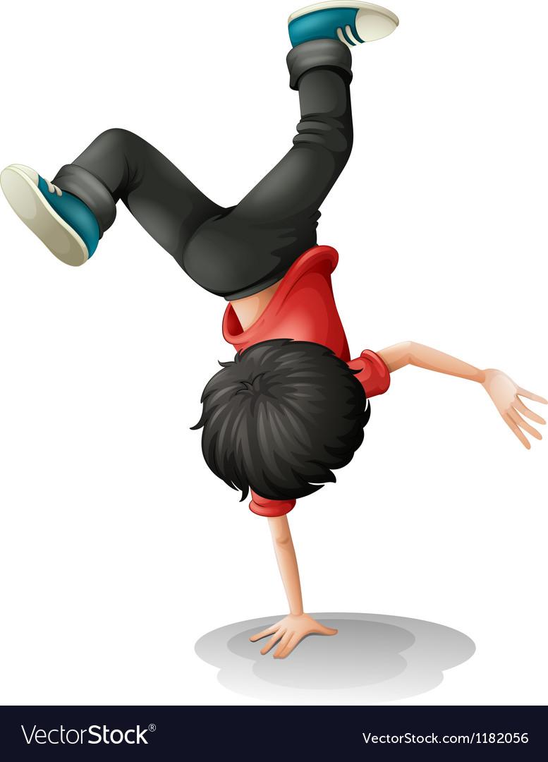 Cartoon Break Dancer Vector Image