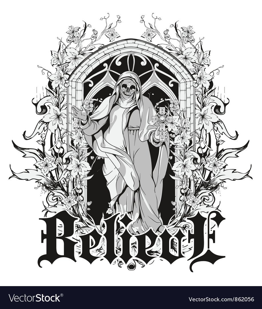 T shirt design vectors - Gothic T Shirt Design Vector Image