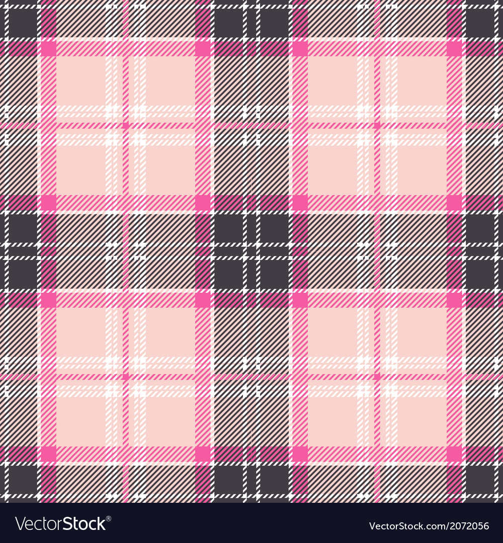 Seamless Pink Tartan Plaid Design vector image