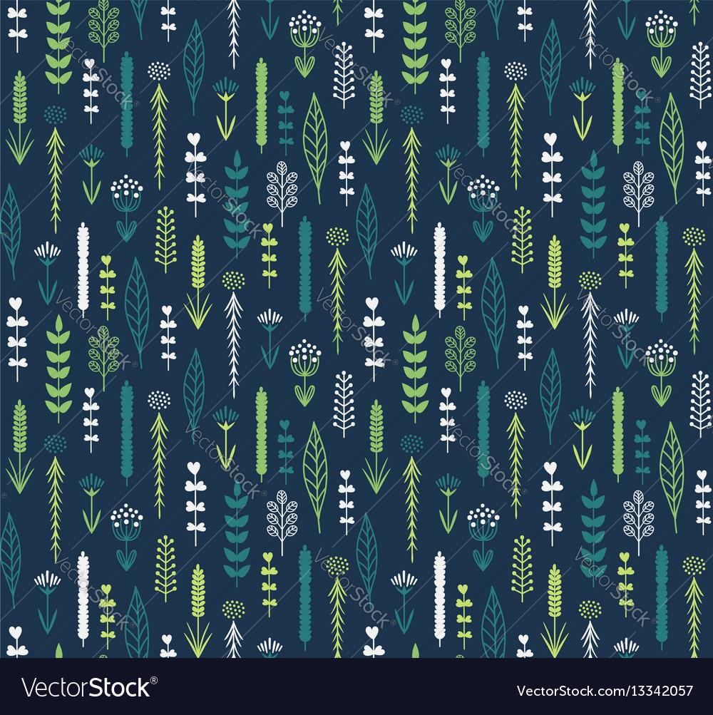 Vertical floral vector image