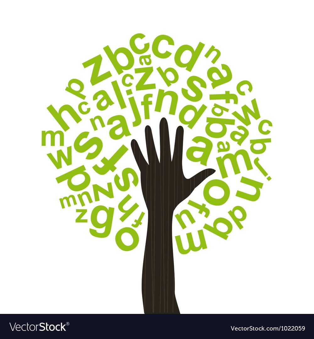 Tree the alphabet vector image