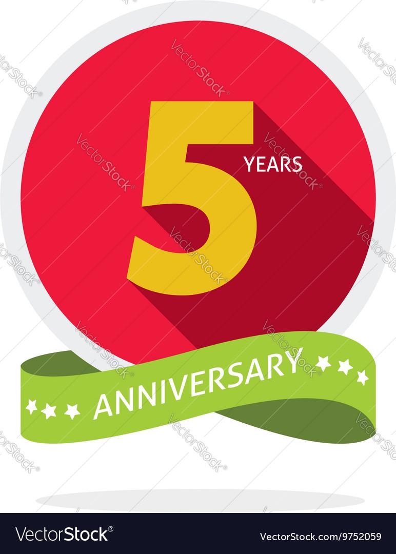 Anniversary 5 years logo badge 5th birthday flat vector image anniversary 5 years logo badge 5th birthday flat vector image biocorpaavc Gallery
