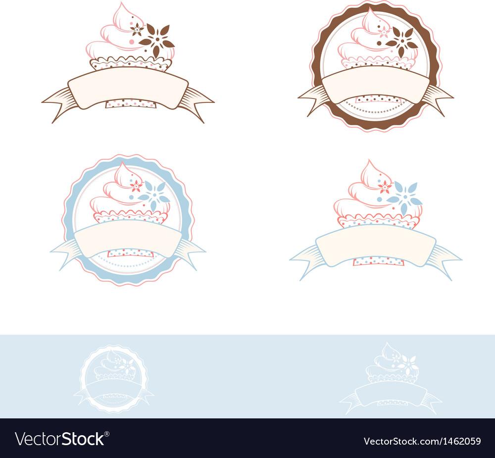 Cake Emblem vector image