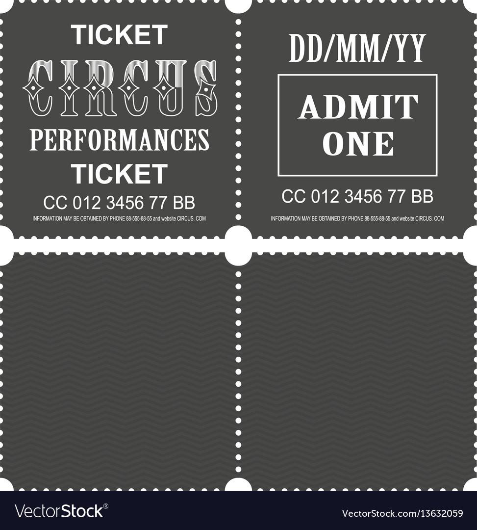 Circus ticket vector image