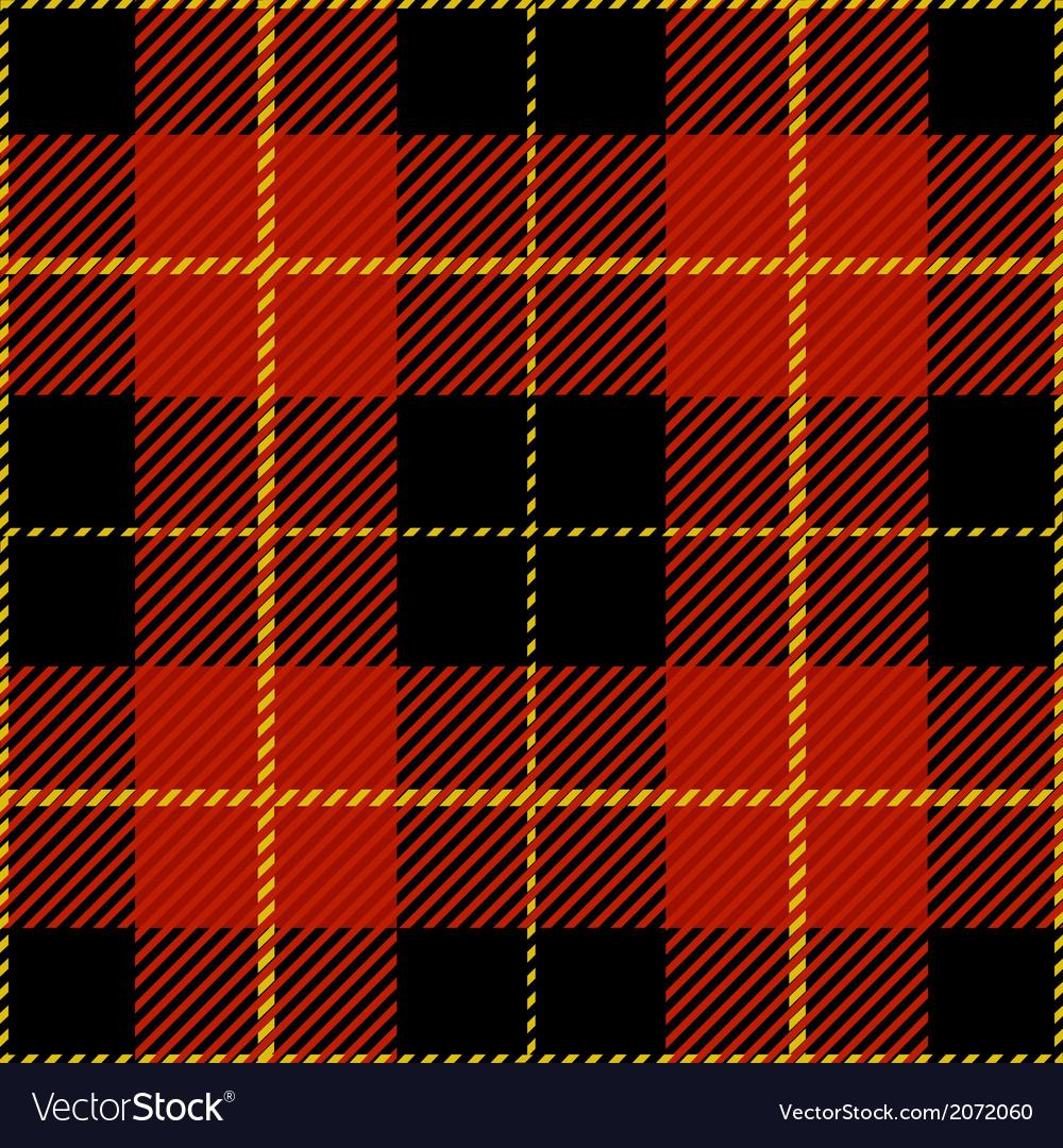 Red Seamless Tartan Plaid Design Pattern vector image