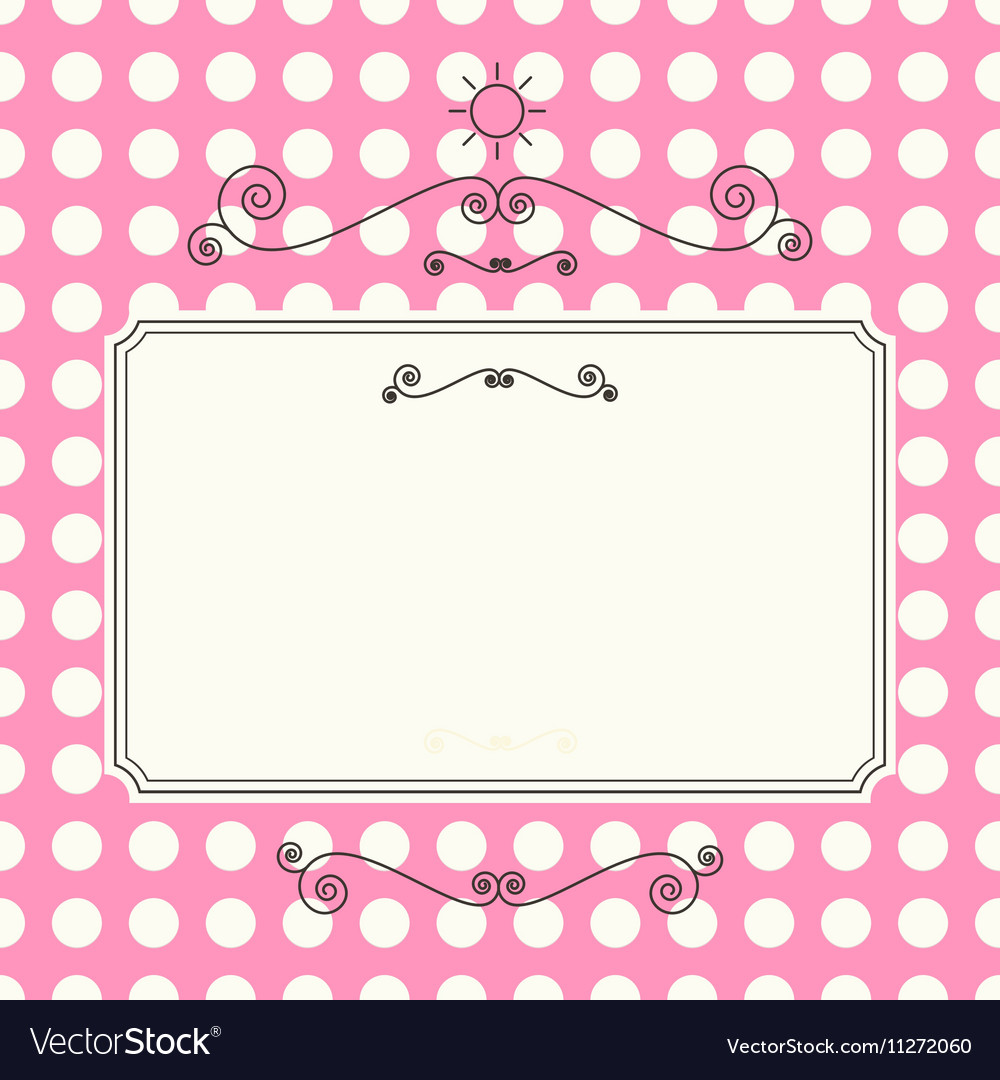 Retro Background Abstract Curled Shapes on Pink vector image