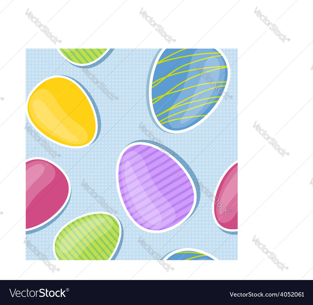 Seamless background with colorful Easter eggs vector image