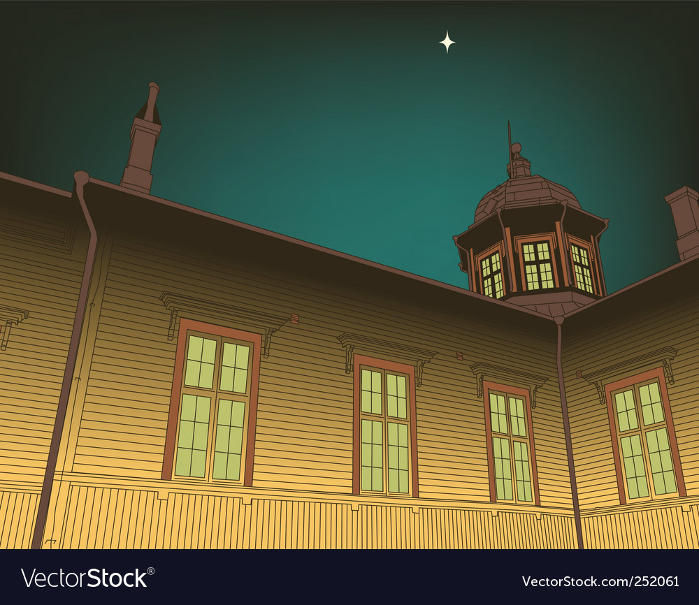 Wooden church vector image