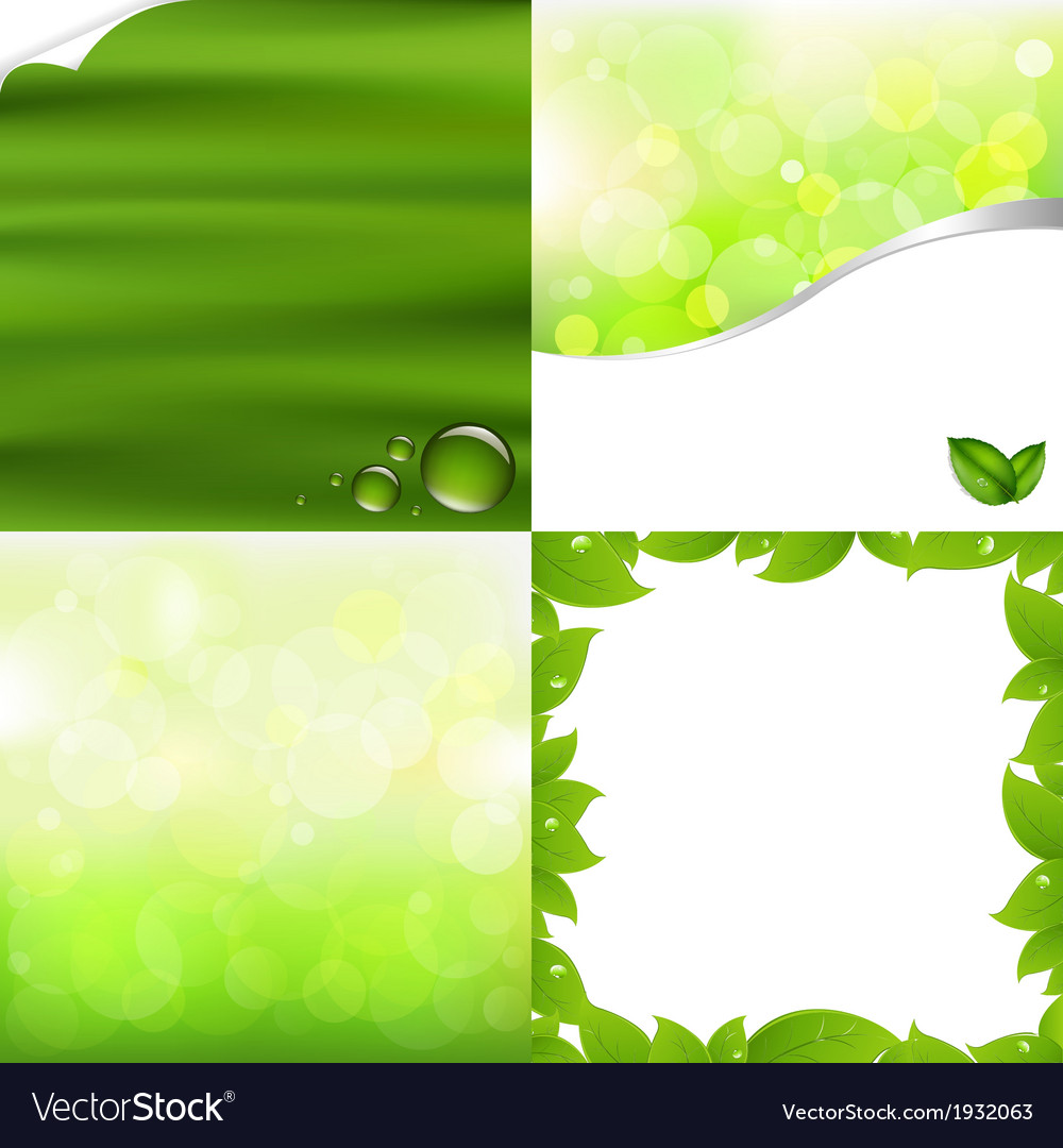 Green Backgrounds vector image