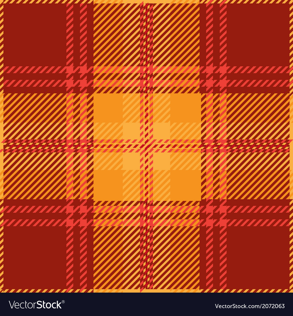 Red Tartan Plaid Pattern Design vector image