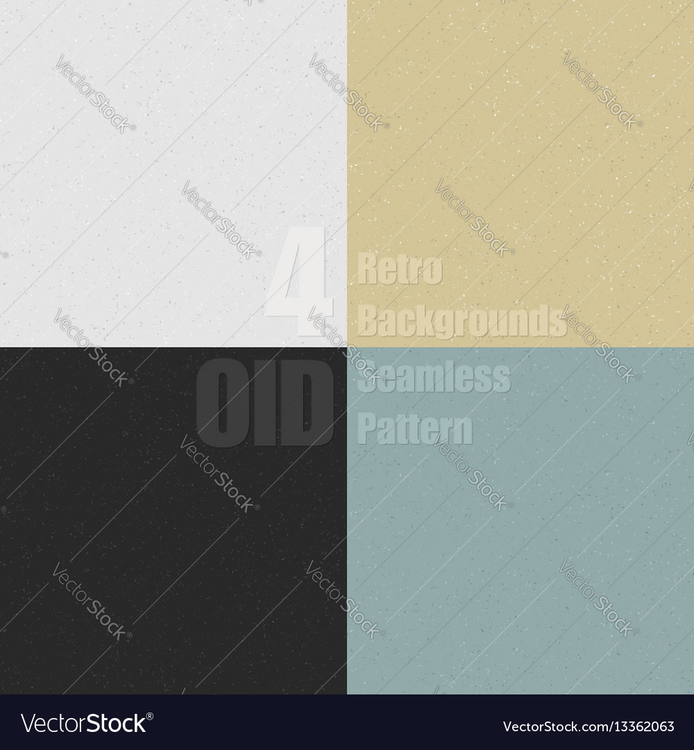 Set of old clean seamless pattern with dirty vector image