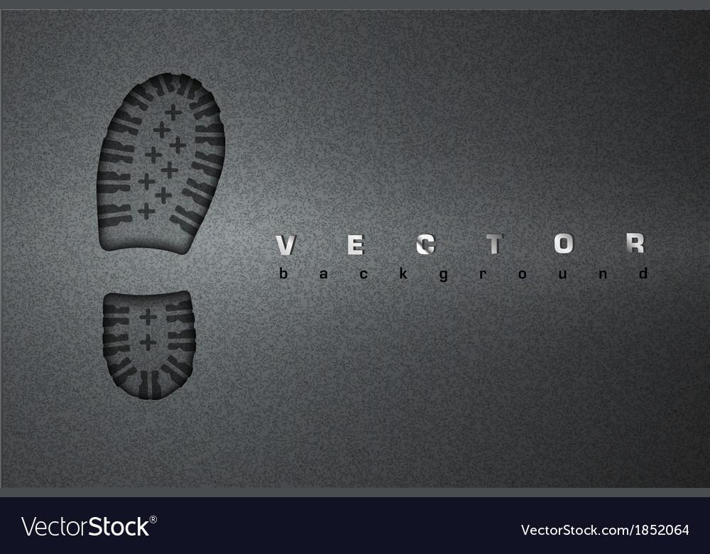 Asphalt background footprint vector image