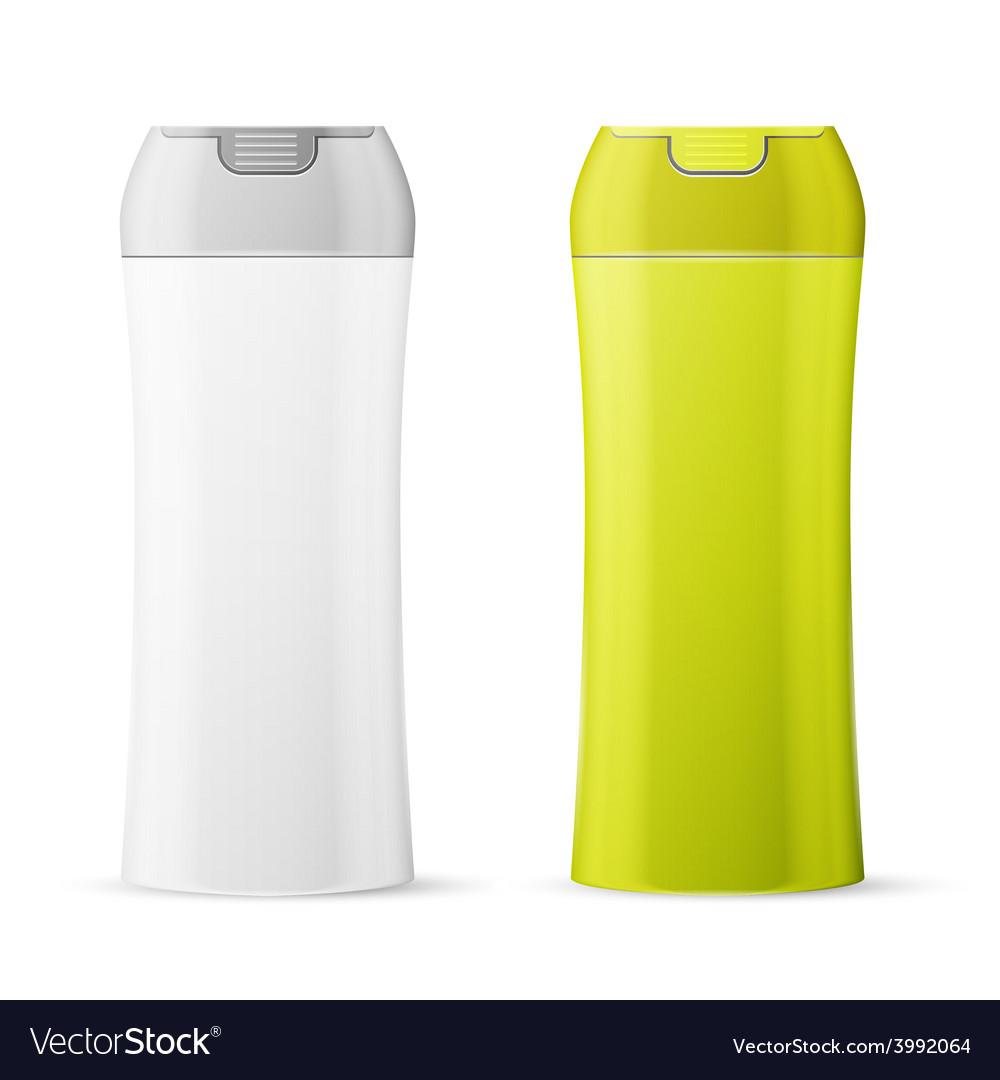 Shampoo or shower gel bottle vector image