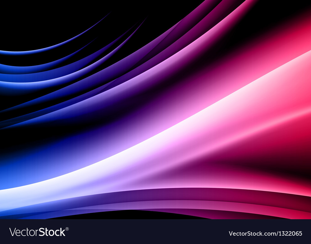 Abstract shape black red blue vector image
