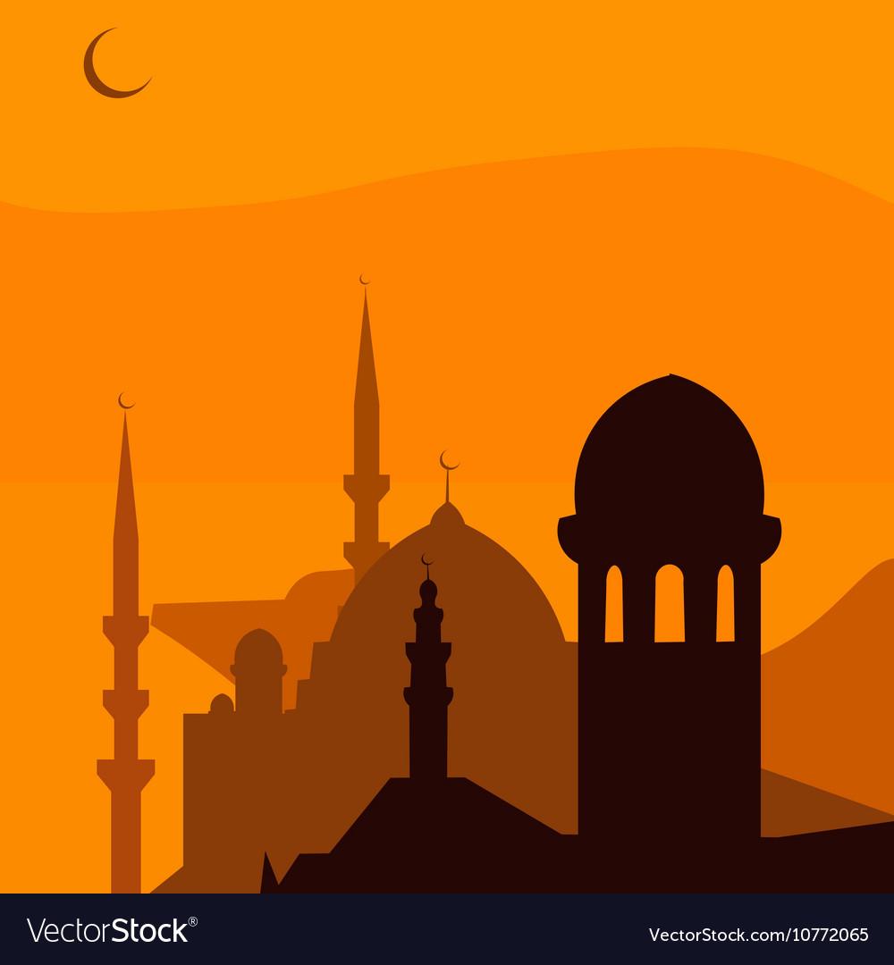 Animated magic Turkish city Istanbul Ramadan vector image