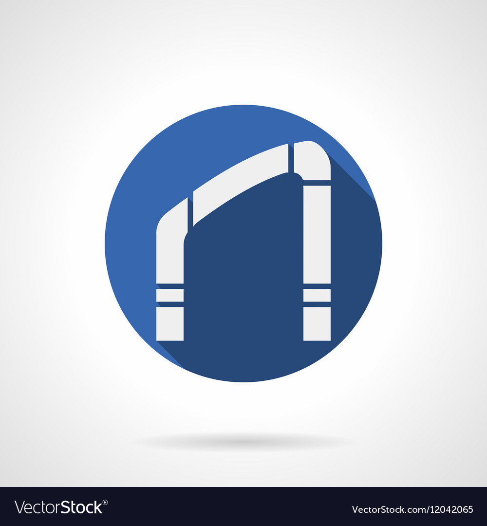 Interior arch element blue round icon vector image