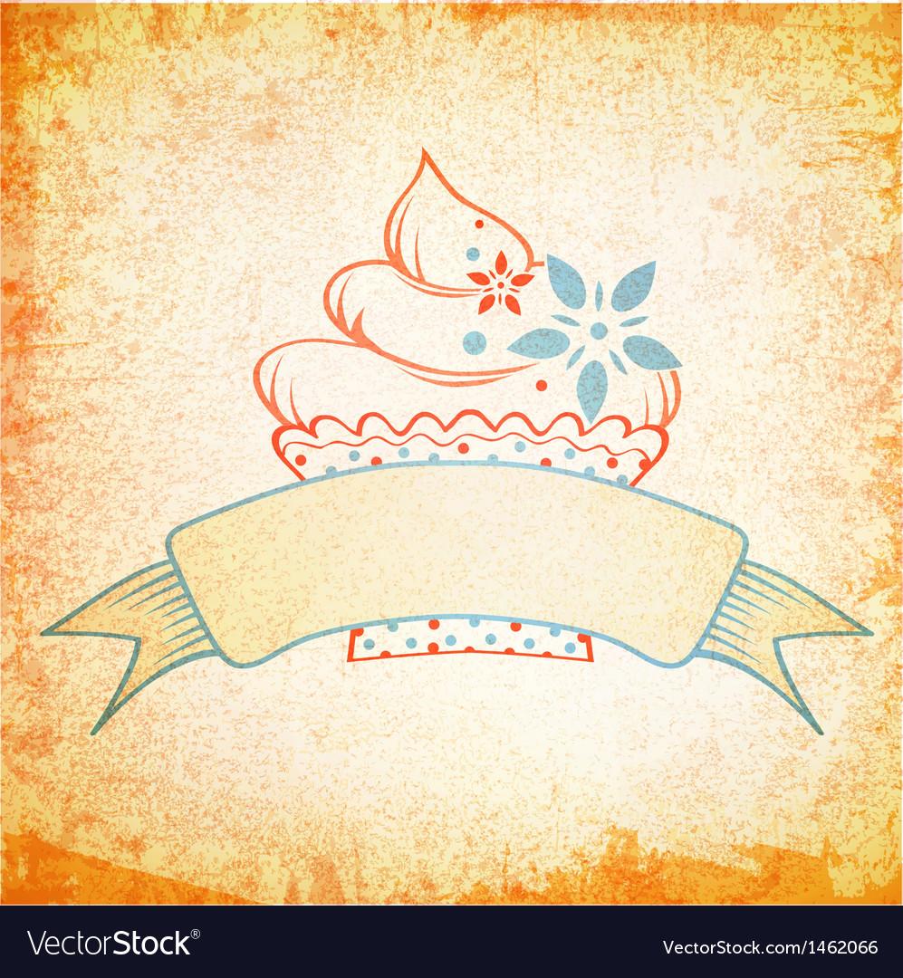Grunge Cake Design vector image