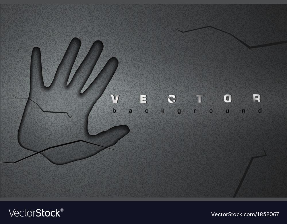 Asphalt background hand vector image