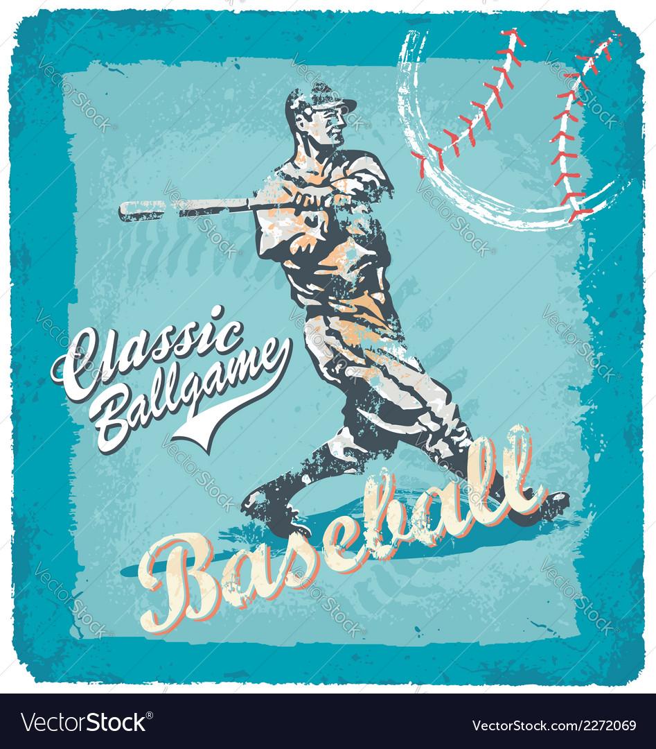 Baseball classic batter vector image