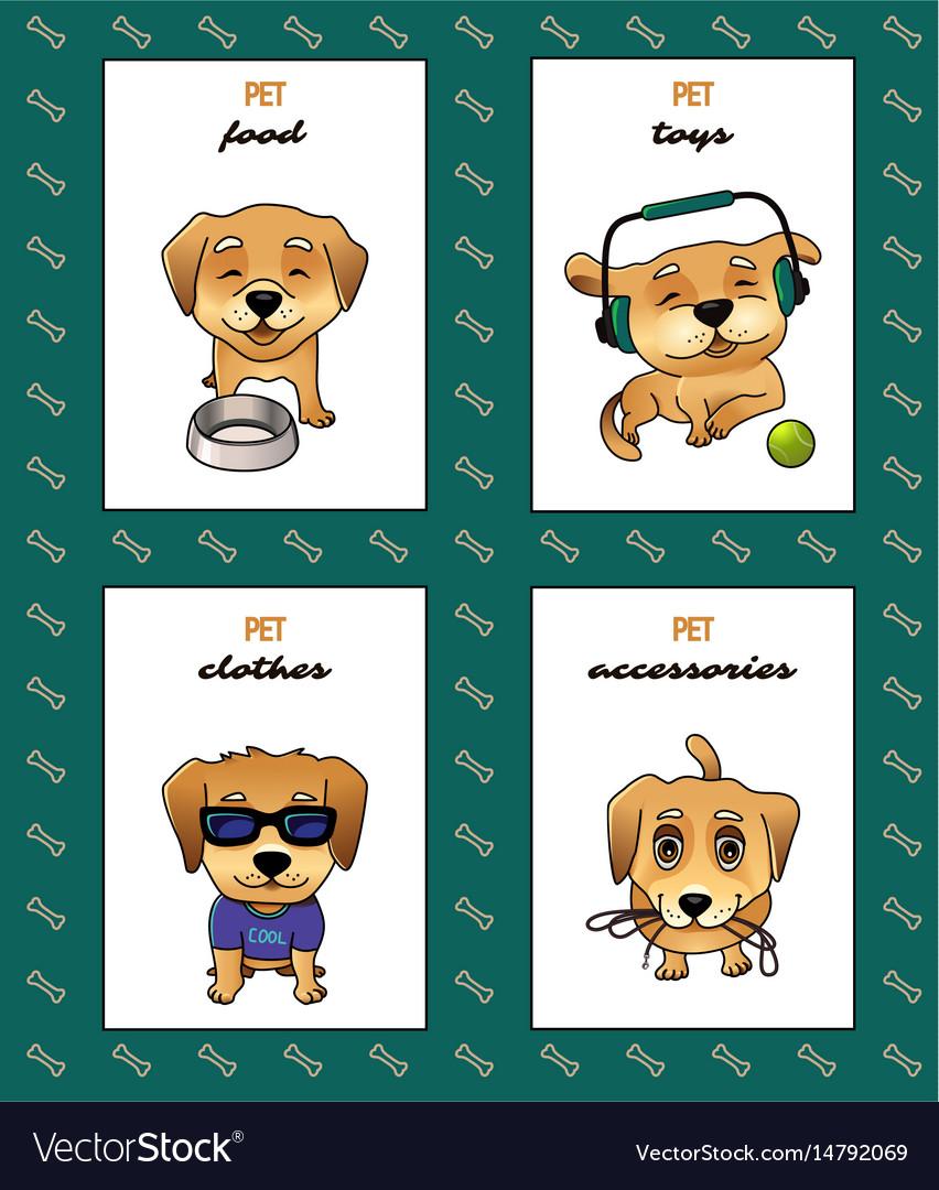 Pet shop labels vector image