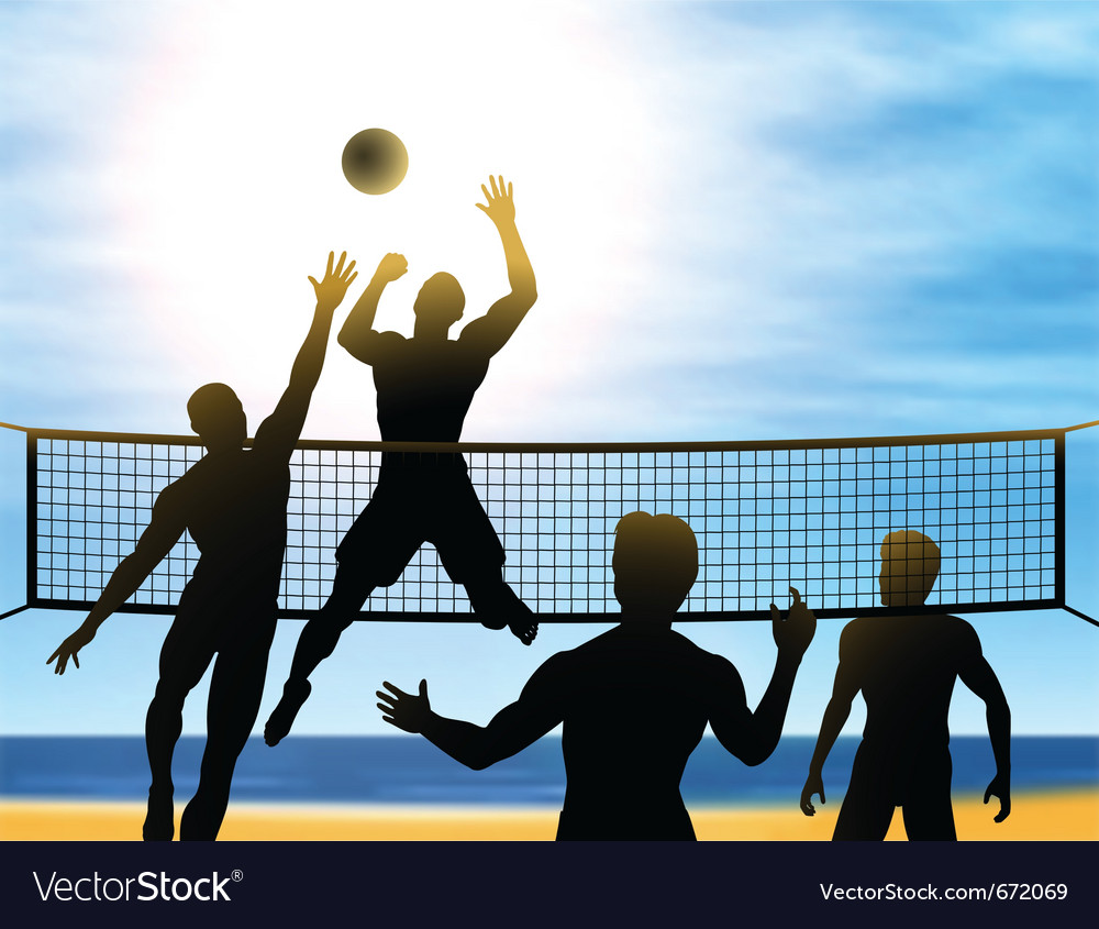 Summer volleyball vector image