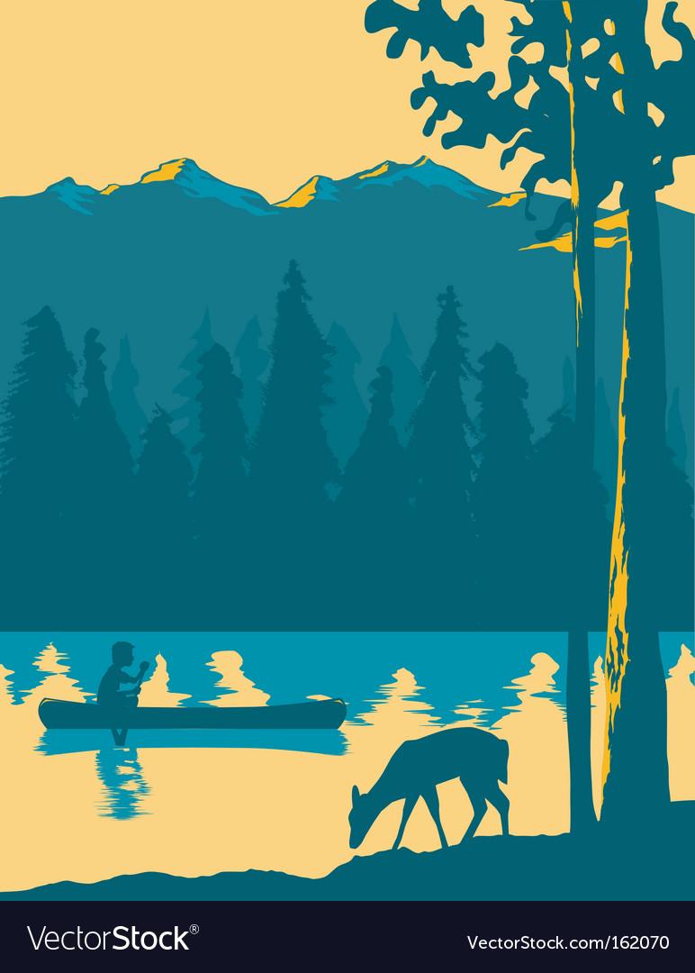 Kayak adventure vector image