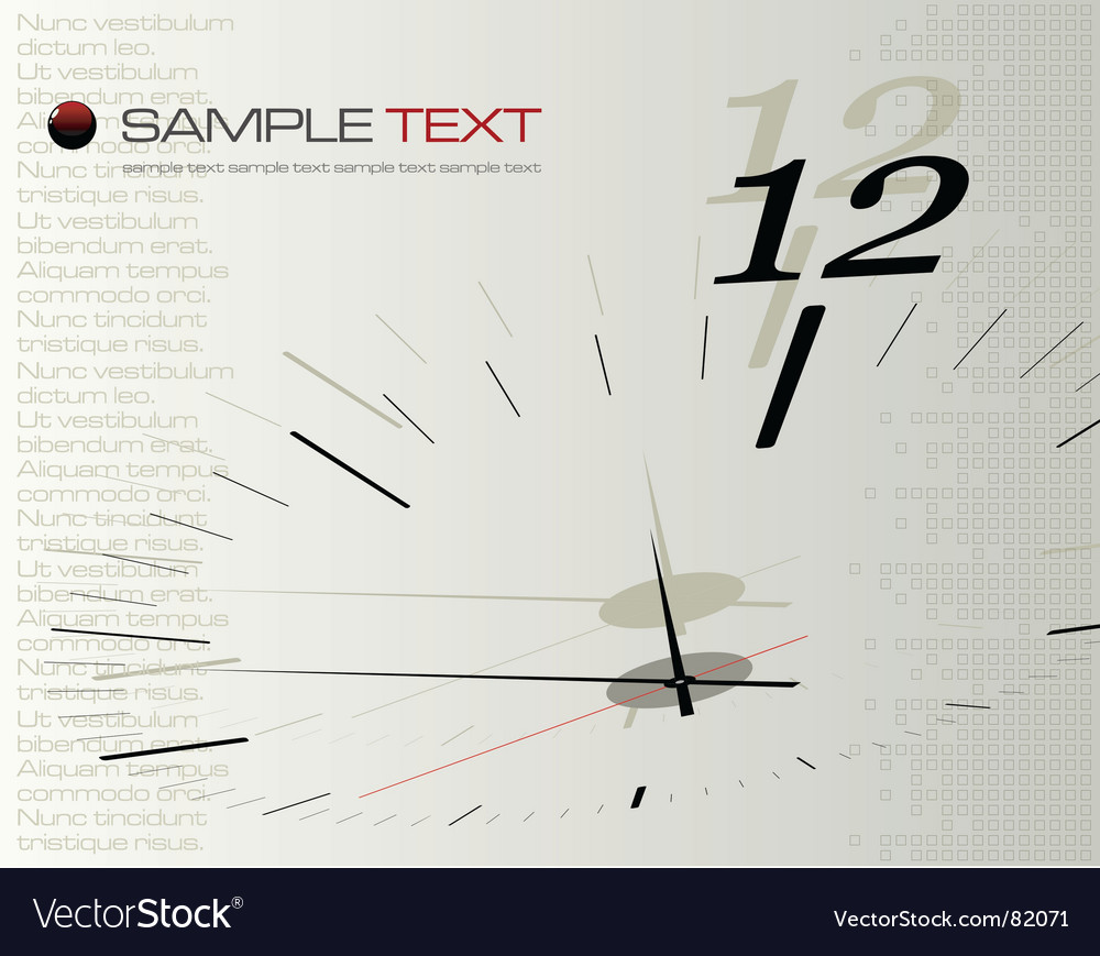 Time concept illustration vector image