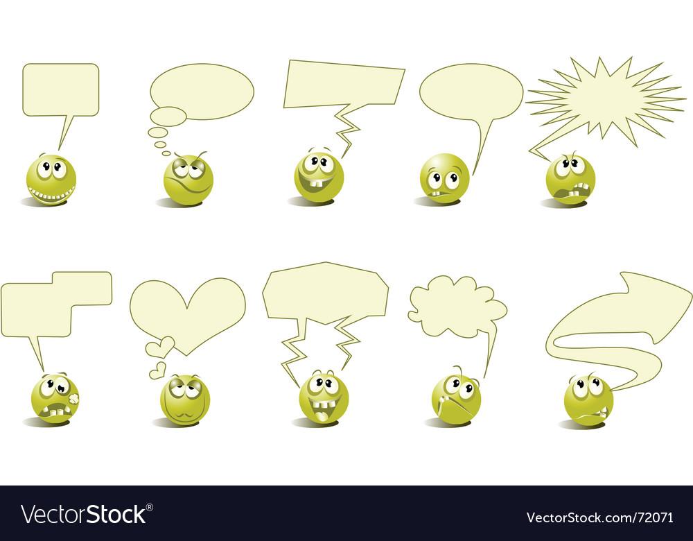 Cartoon conversation vector image
