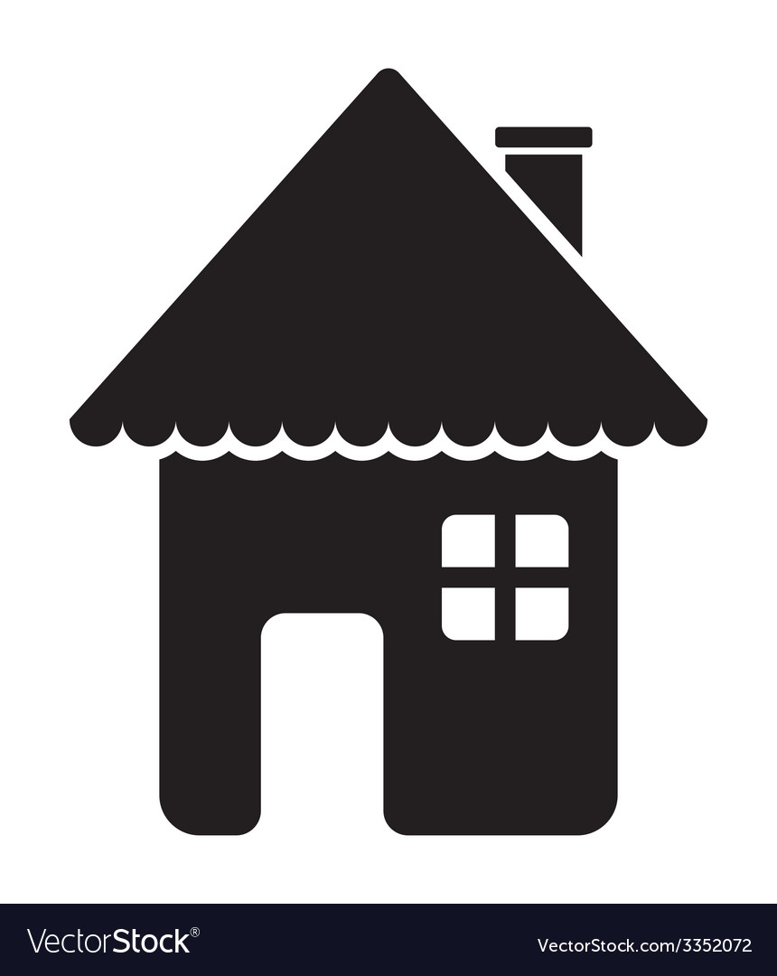 House icon1 vector image