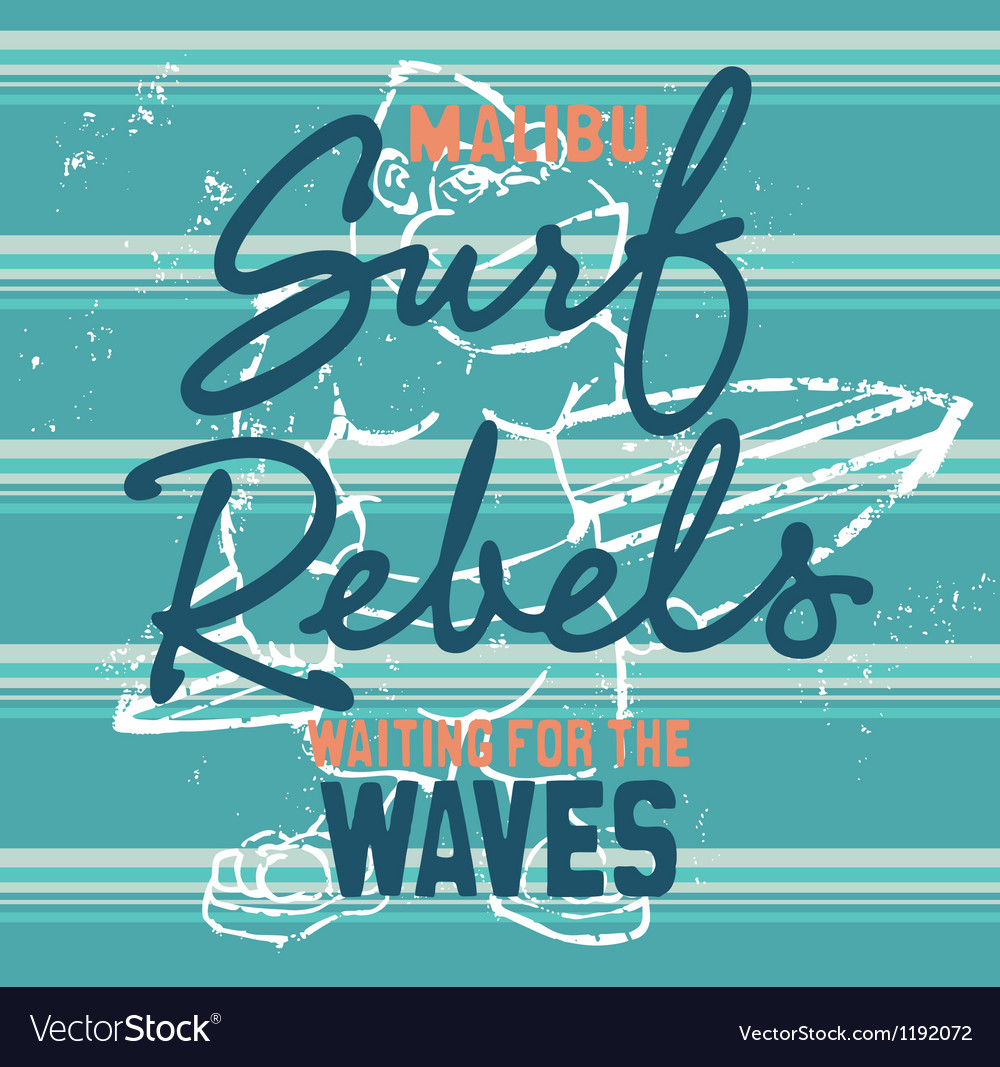 Surf rebels vector image