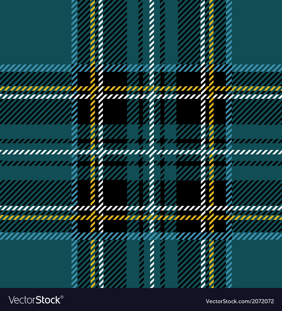 Traditional Seamless Blue Tartan Pattern vector image
