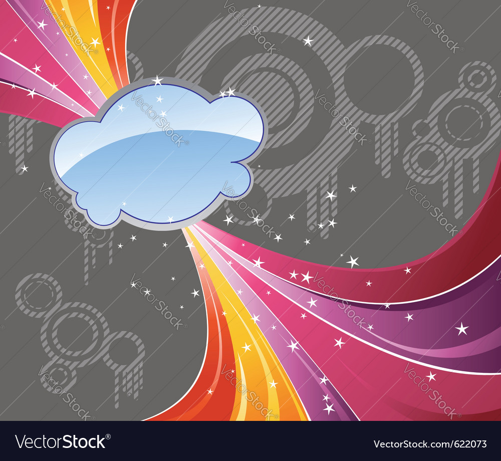Rainbow abstract advertisement vector image