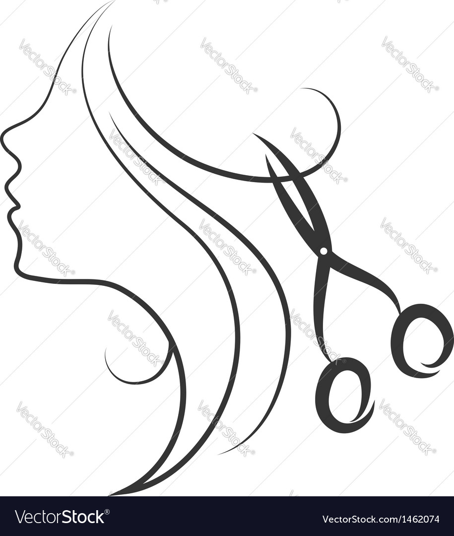Emblem of beauty salon vector image