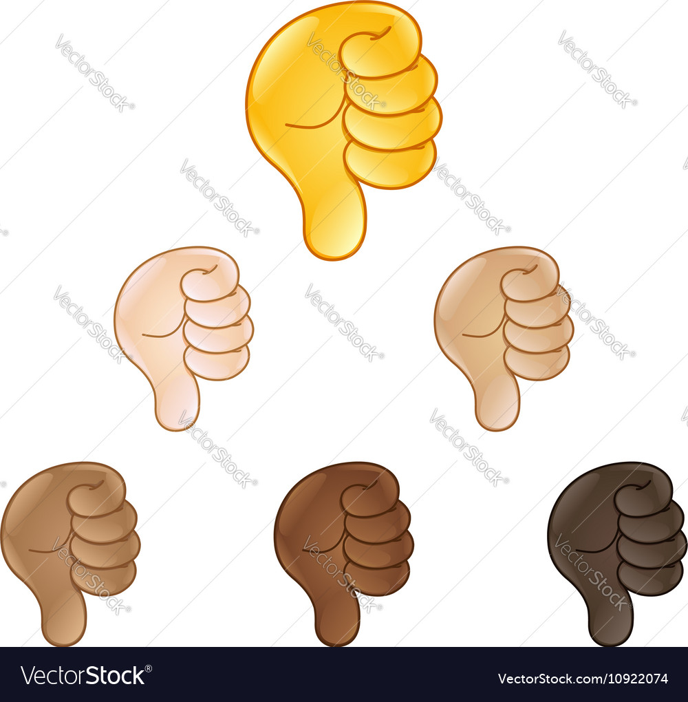 Thumbs down hand sign emoji royalty free vector image thumbs down hand sign emoji vector image biocorpaavc