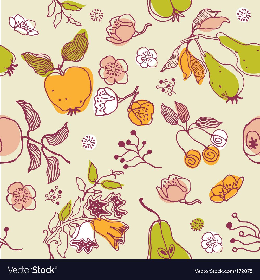 Nature seamless pattern vector image